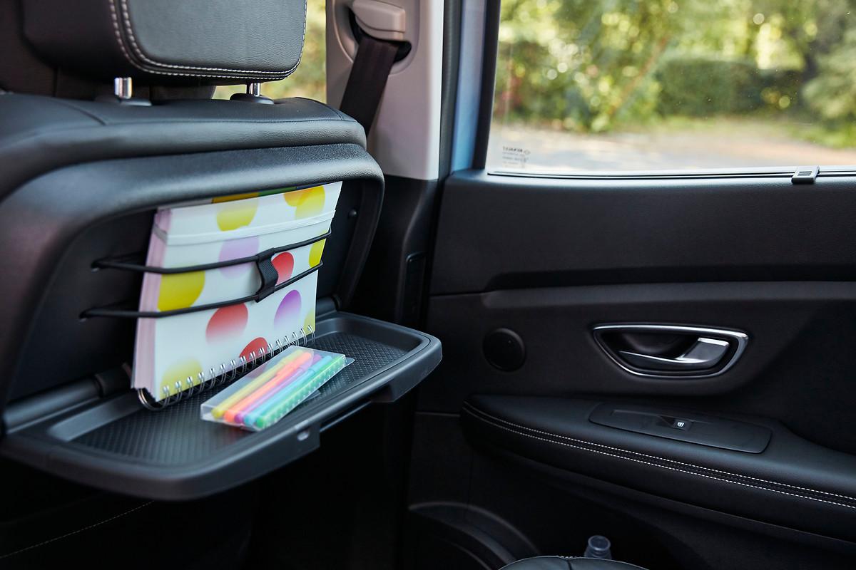 Tablettes aviation et sièges mixte similicuir / Carbone Foncé