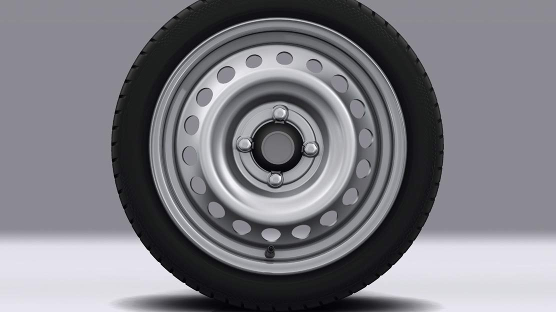 Emergency spare wheel