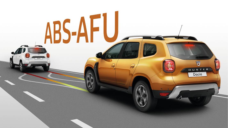 ABS mit Notbremsassistent und Bremskraftverteilung