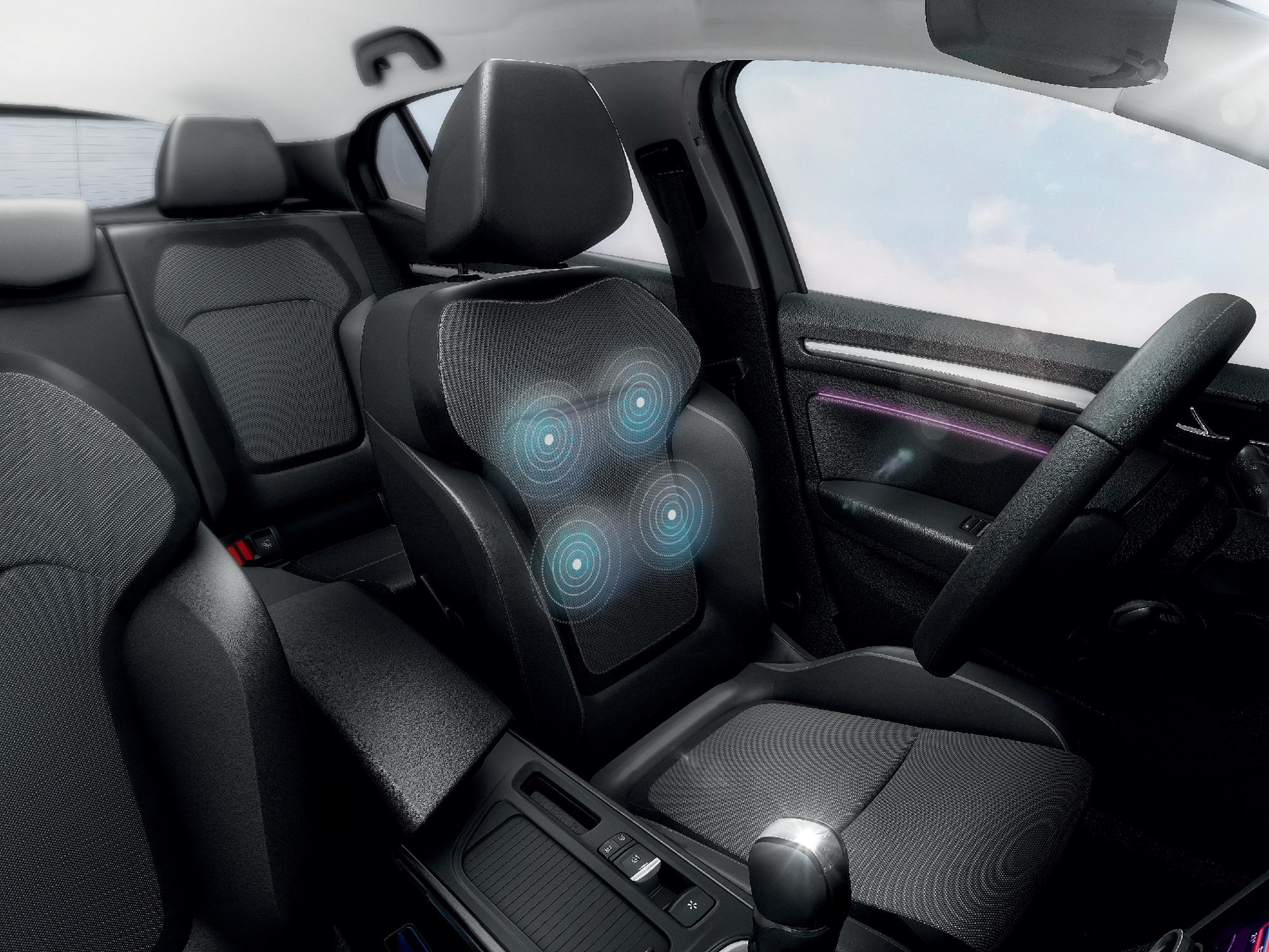Fahrer und Beifahrersitz höhenverstellbar, Fahrersitz mit Lordosenstütze