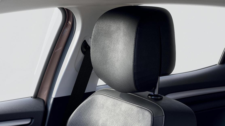 In hoogte verstelbare sportstoelen voor bestuurder en passagier met lendensteun