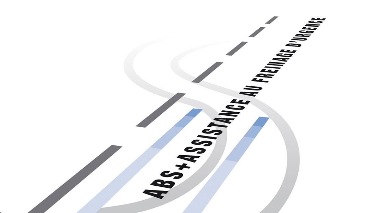 Anti-Blockier-Bremssystem (ABS) mit Notbremsassistent und Bremskraft-verteilung