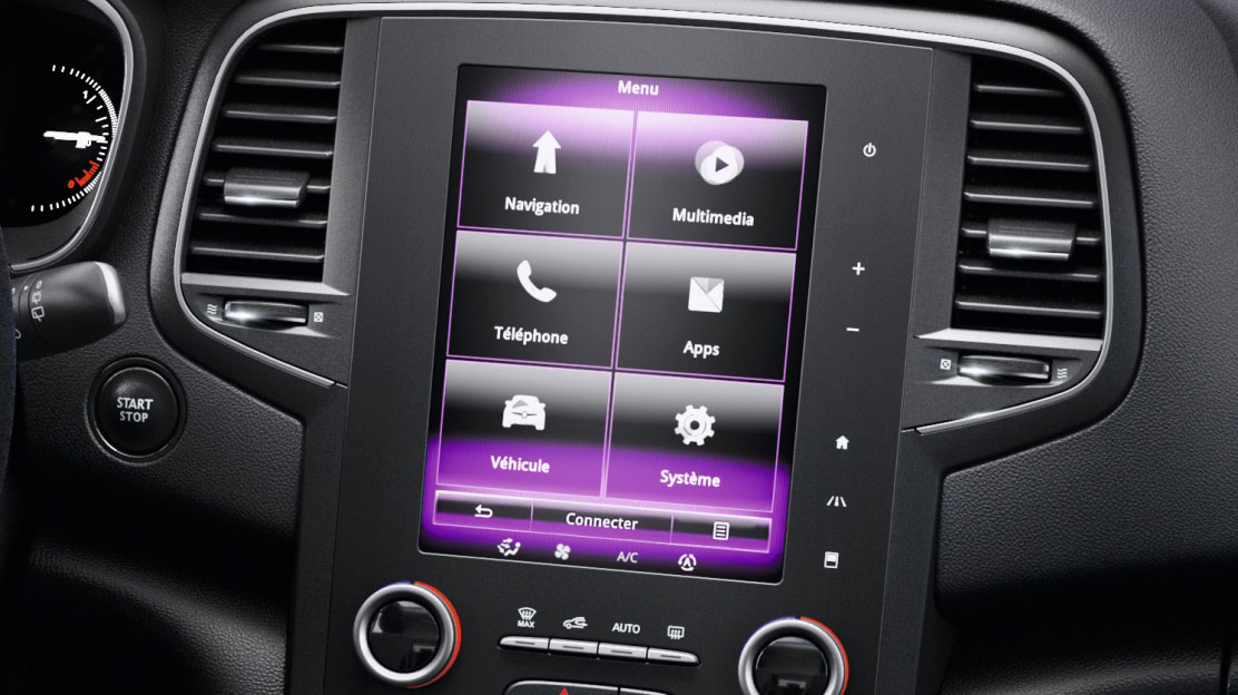 "R-Link 2 multimedia system: 8.7"" touchscreen, TomTom® LIVE services with Western European mapping"