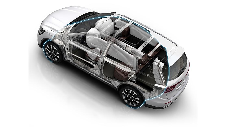 Airbags frontais do condutor e passageiro adaptativos