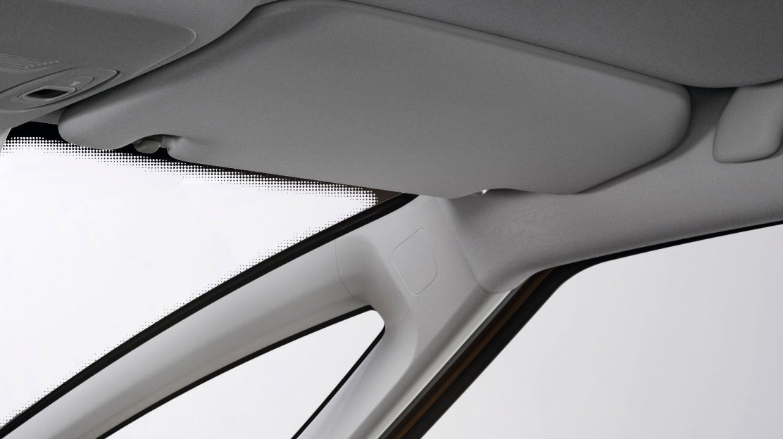 Verlichte make upspiegel aan bestuurders- en passagierszijde