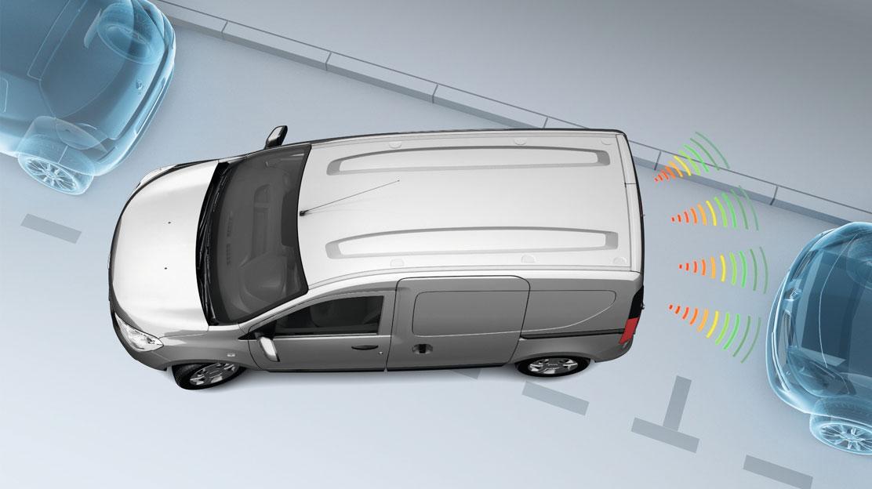 Parkeersensoren in de achterbumper