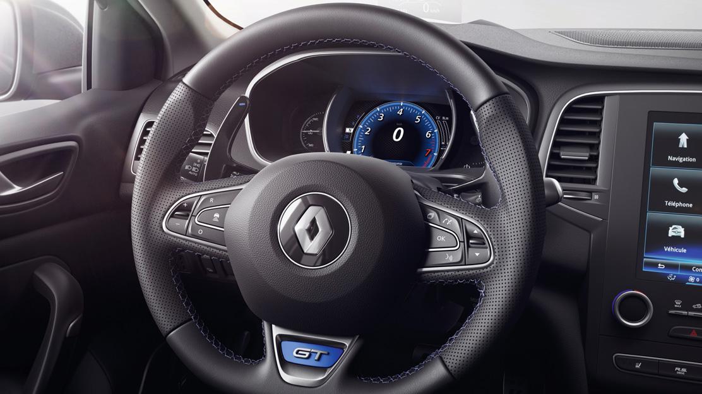 GT leather steering wheel