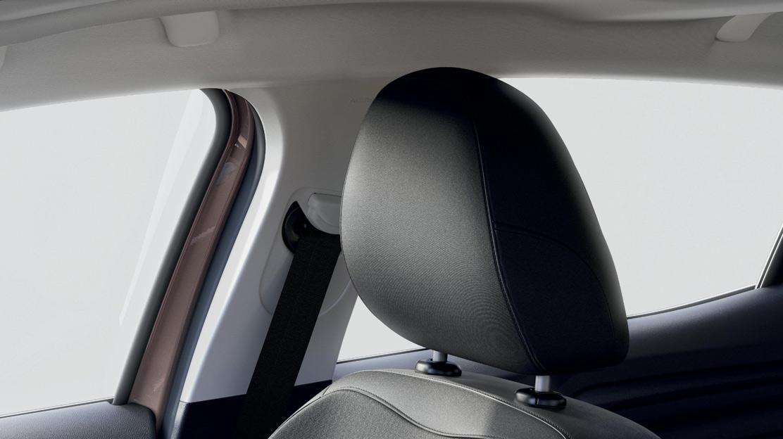 In hoogte verstelbare bestuurdersstoel met lendensteun