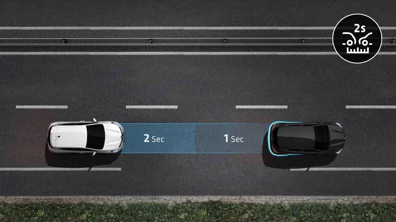 Система за следене на дистанция до движещия се отпред автомобил