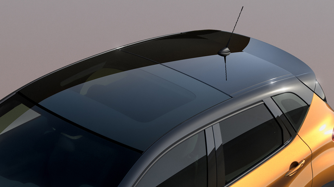 Black fixed glass panoramic roof