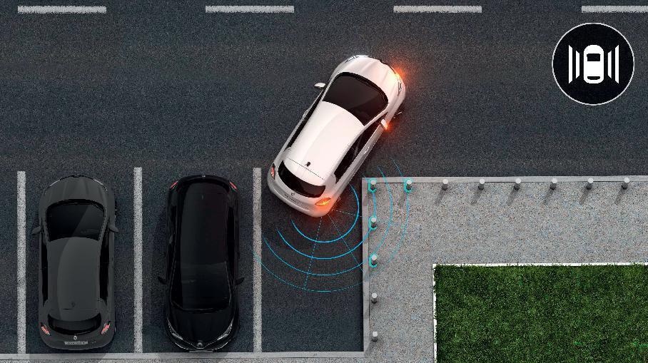 Parkeersensoren vóór en achter