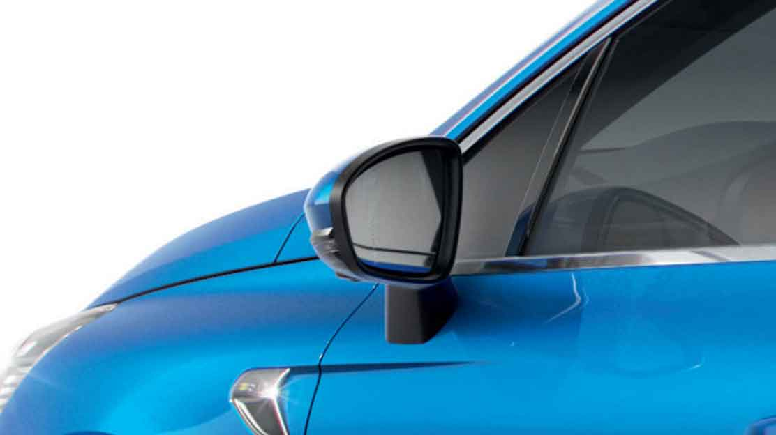 Electrically folding mirrors