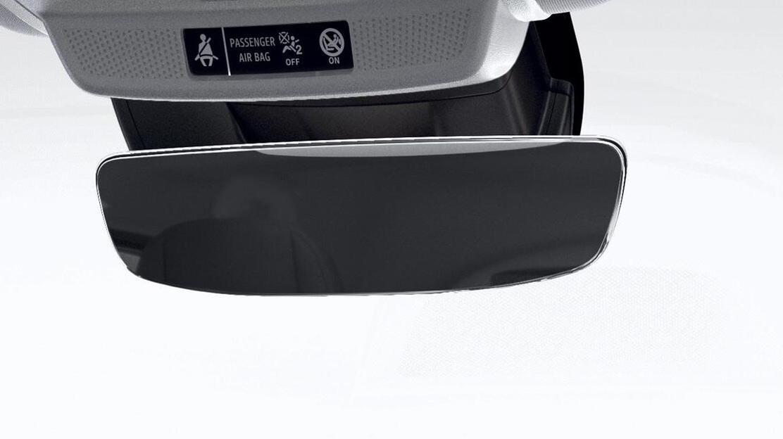Automatisch dimmende binnenspiegel zonder omlijsting