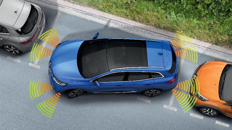 Asistenta la parcarea fata si spate (senzori acustici)