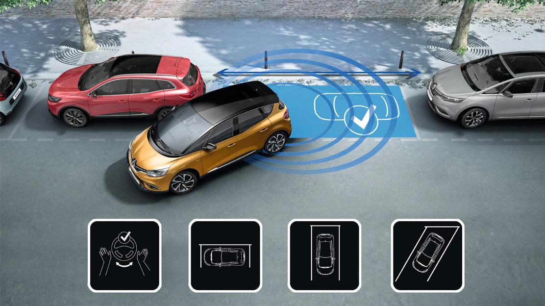 Sensor de aparcamiento delantero y trasero con cámara + Easy Park Assist