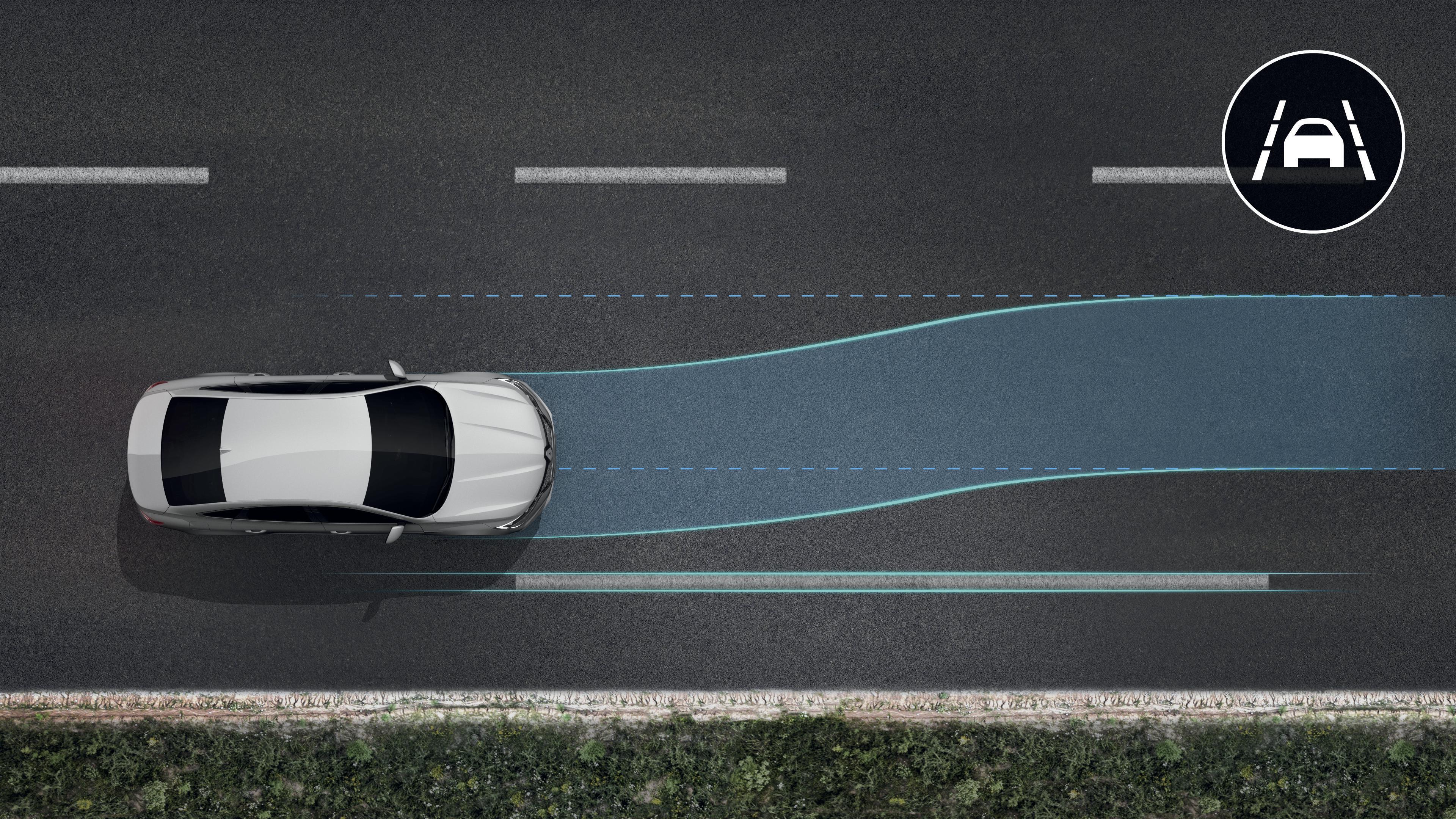 Lane Keep Assist: centraggio della corsia