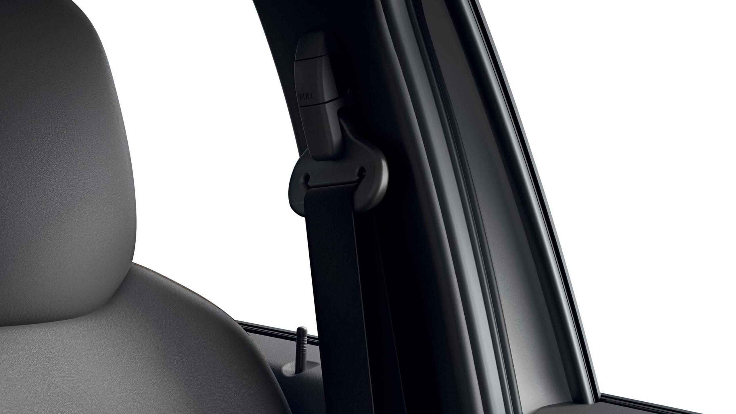 Cintos de segurança dianteiros reguláveis em altura