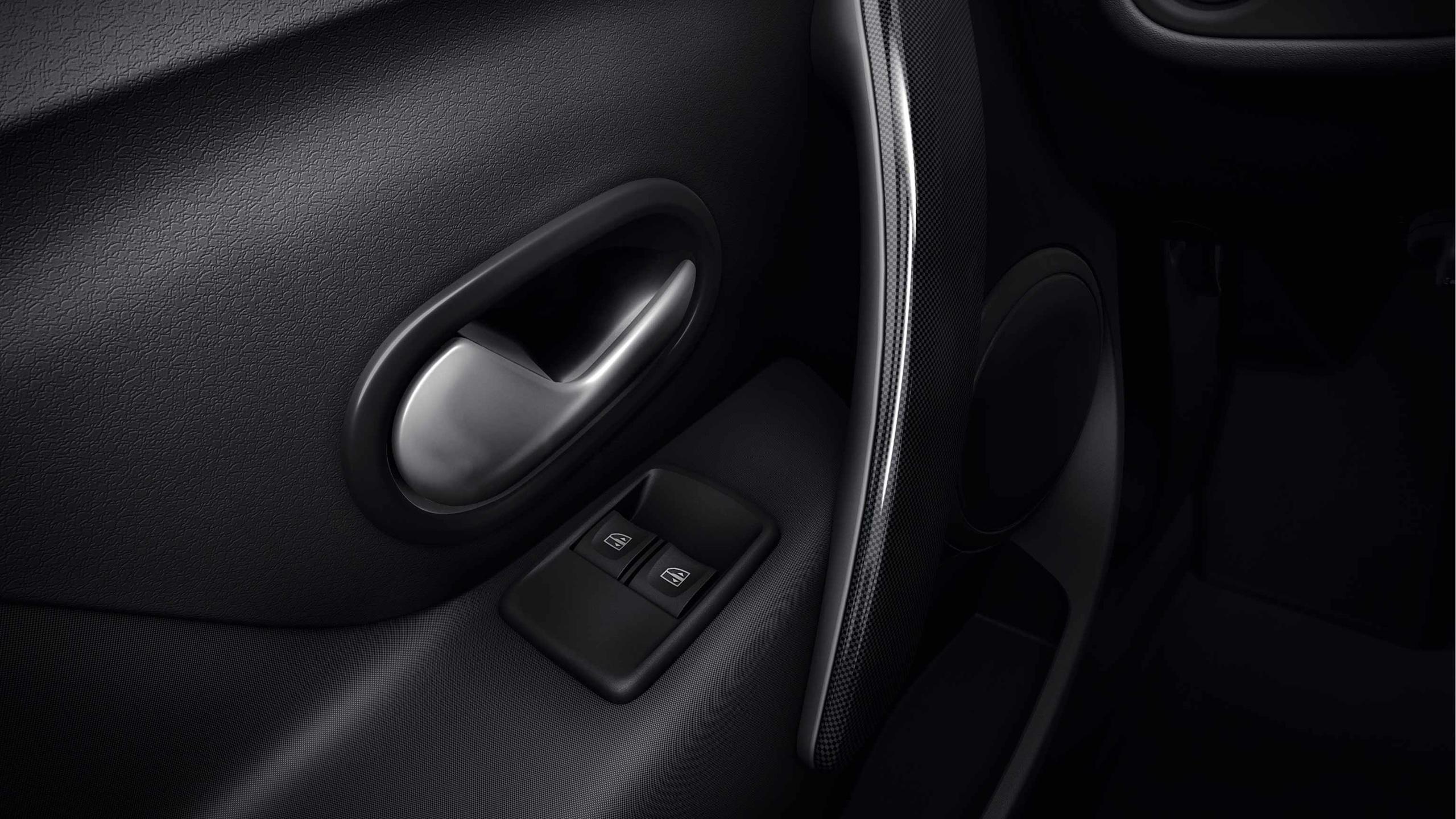 Elektrisch bedienbare zijruiten vóór met sneltoets voor bestuurder