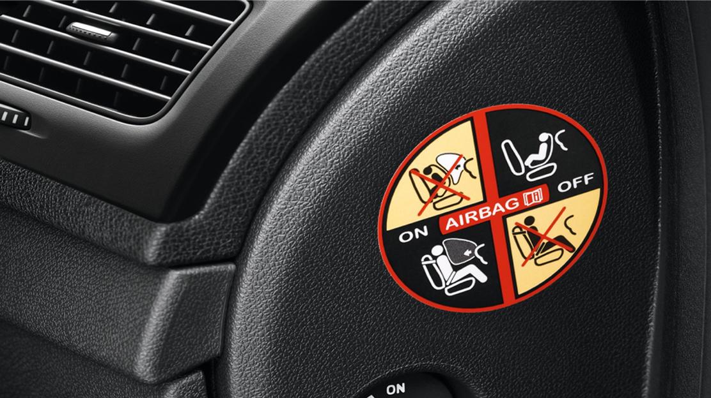 Déconnection de l'airbag passager