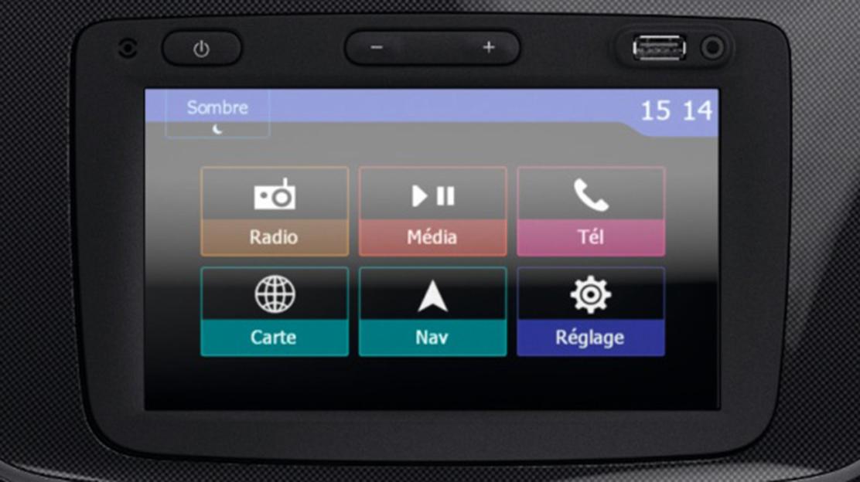 Système de navigation et multimédia avec écran tactile 7