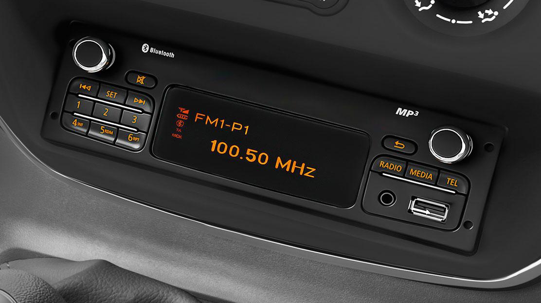 Rádio MP3 Bluetooth® USB Jack, ovládání pod volantem, integrovaný displej, bez CD přehrávače