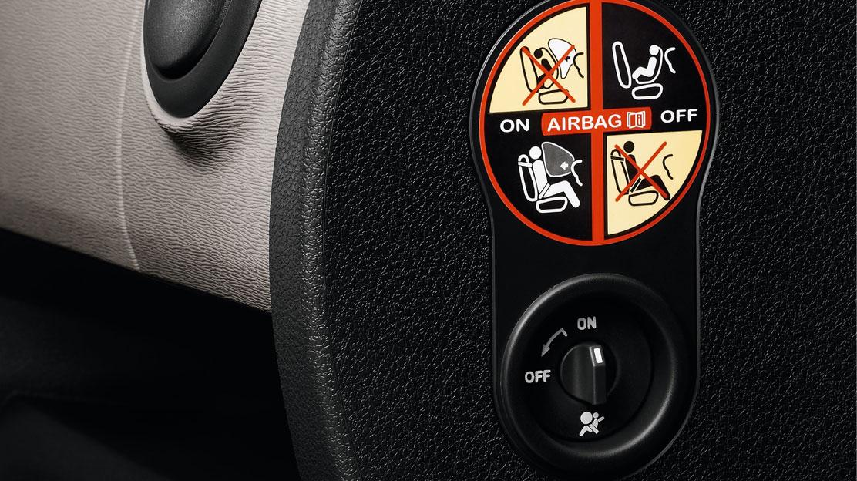 Vypínateľný airbag spolujazdca