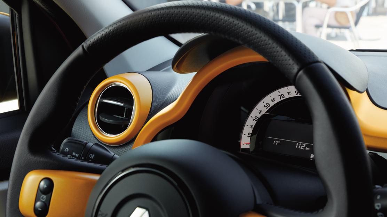 Aviso de los cinturones de seguridad conductor y pasajero