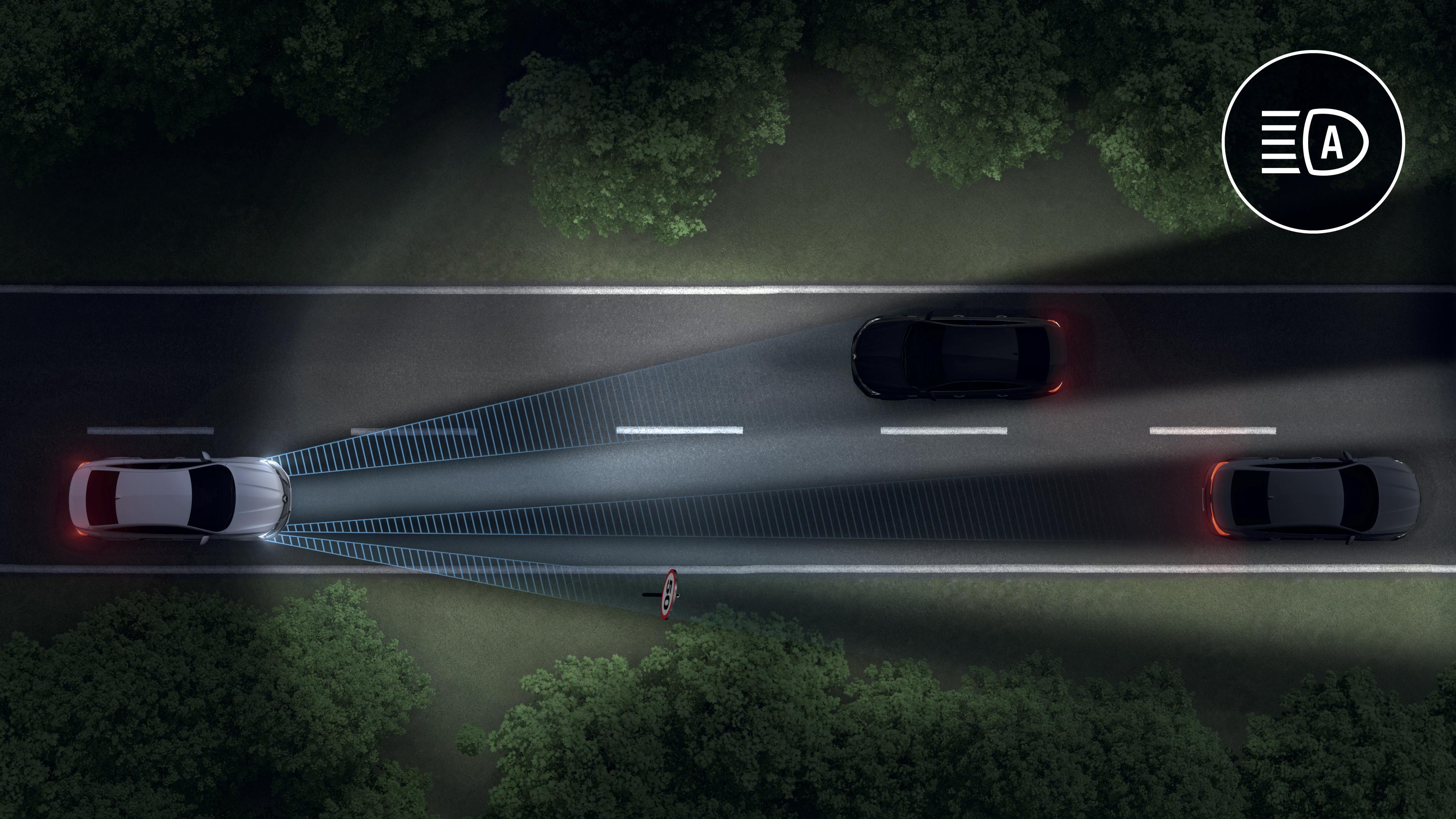 Adaptives Fernlicht LED Matrix Vision