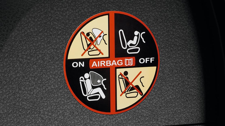 Airbag do passageiro desconectável