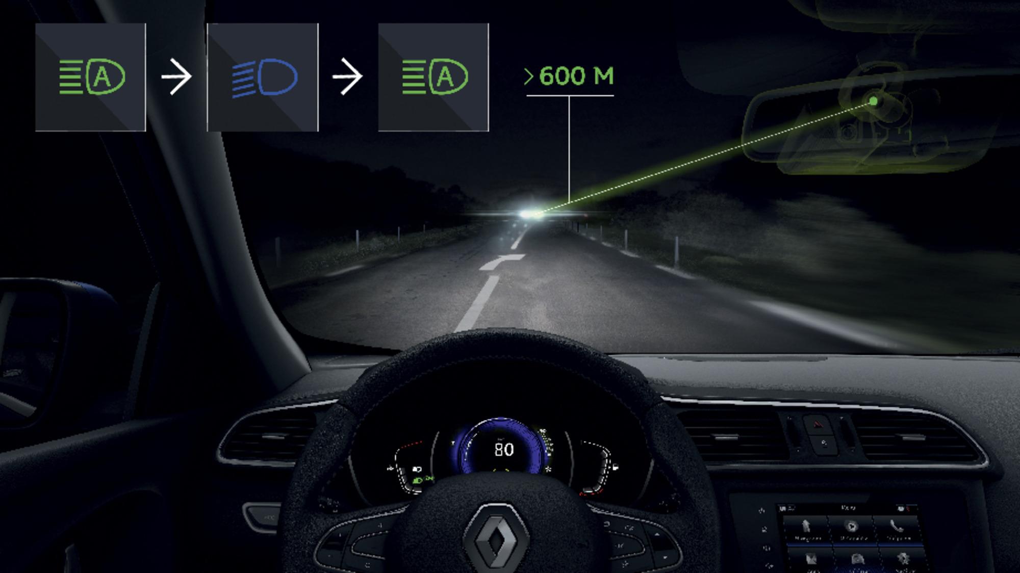 Automata távolsági fényszóróvezérlés