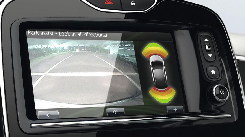 Senzori de parcare spate + camera video pentru marsarier