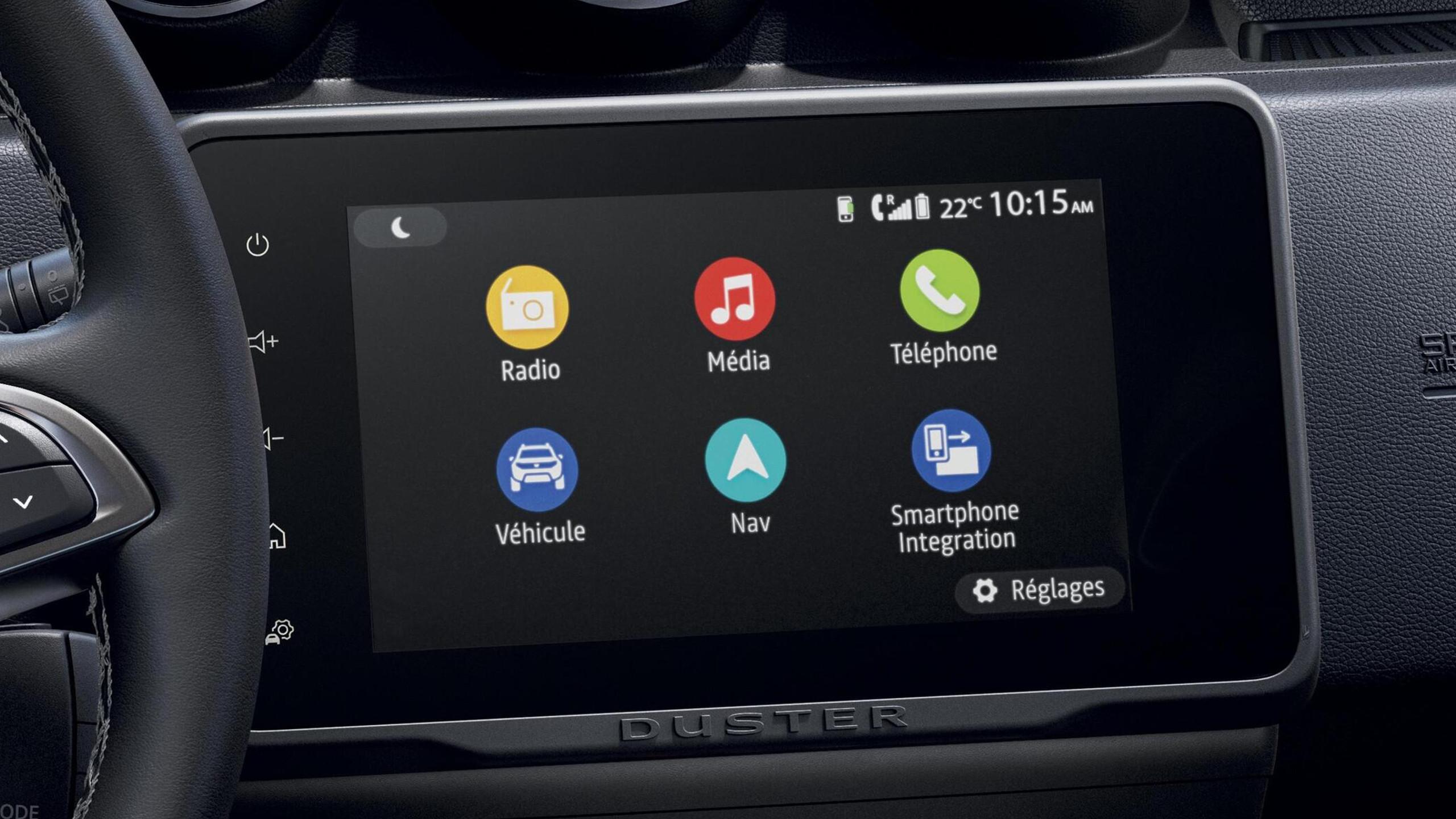 Media NAV (écran 8'' avec réplication, navigation, 6 haut-parleurs, 2 USB + support téléphone)
