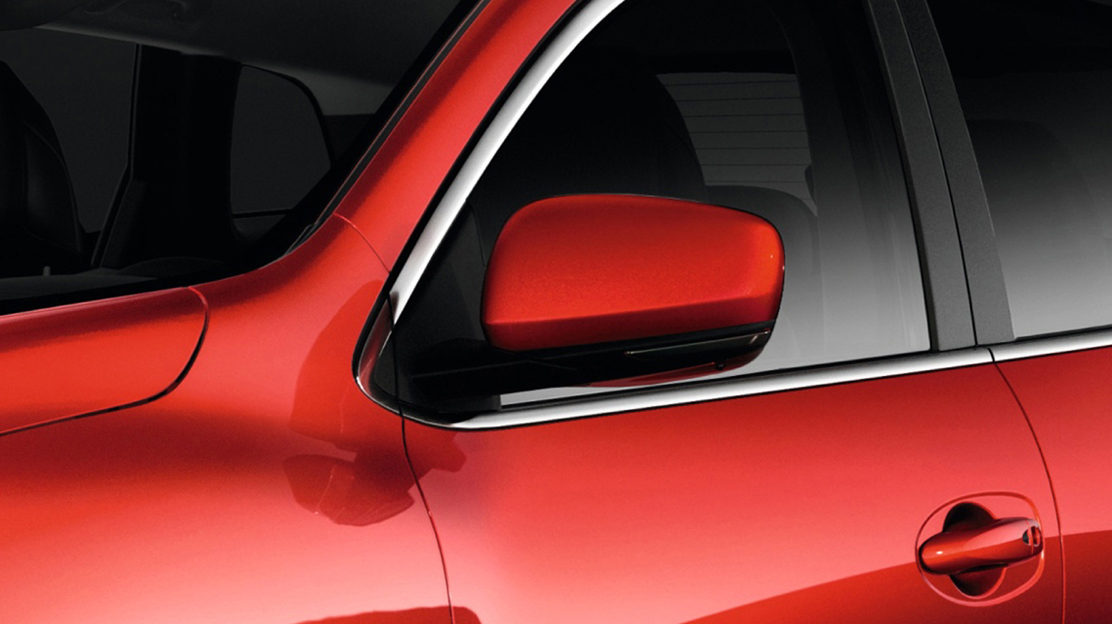 Electrically adjustable, heated and folding door mirrors