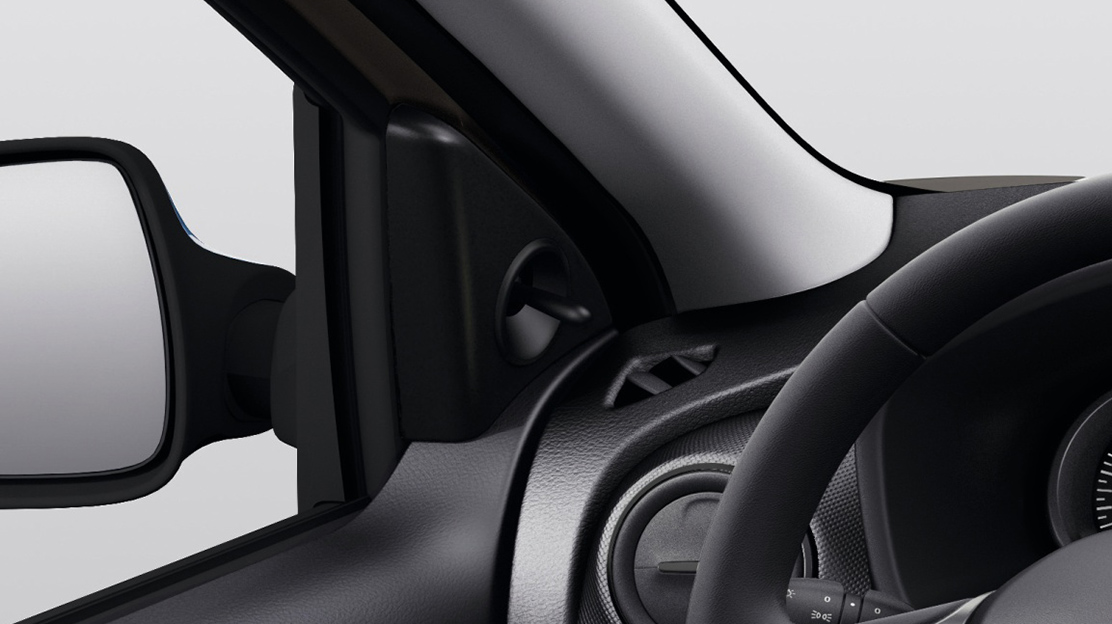 Manually adjustable door mirrors