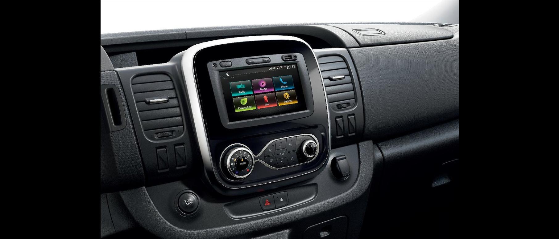 """7"""" érintőképernyős MP3 és Bluetooth® rádió USB, Jack-csatlakozóval, beépített kijelzővel"""