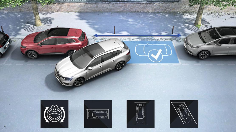 Ayuda al aparcamiento delantero y trasero + cámara visión trasera + Easy park assist