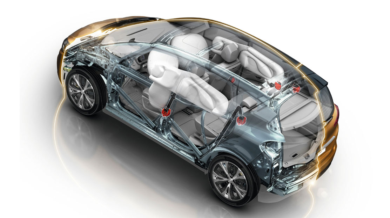 Frontairbag und Seitenairbag «Brust» autoadaptiv Fahrer- und Beifahrerseite