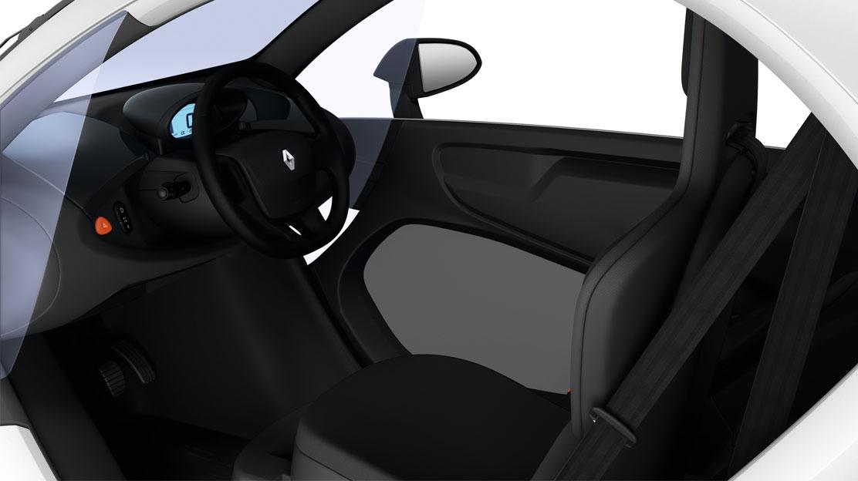 Fahrersitzschale & Dekor auf Armaturenbrett in Schwarz