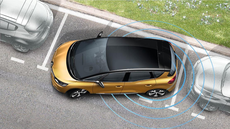 Einparkhilfe vorne und hinten sowie an den Seiten (360 Grad)