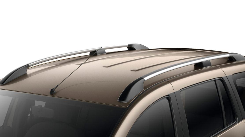 Barres de toit longitudinales chrome satiné