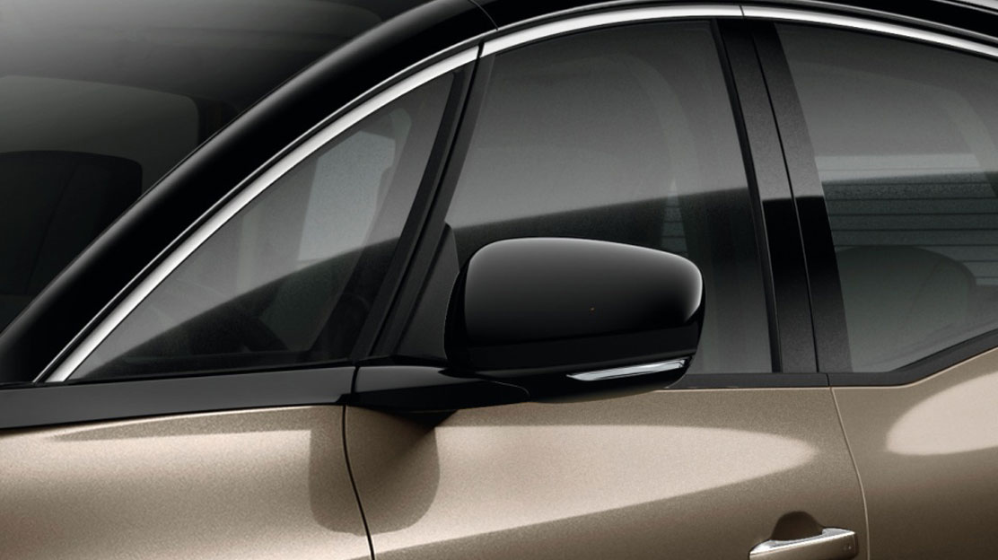 Electrically adjustable, folding and heated door mirrors