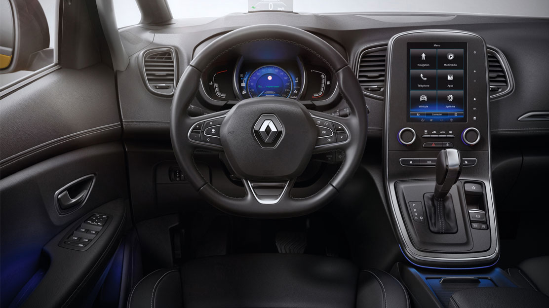 Renault MULTI-SENSE - driving mode selector and ambient lighting