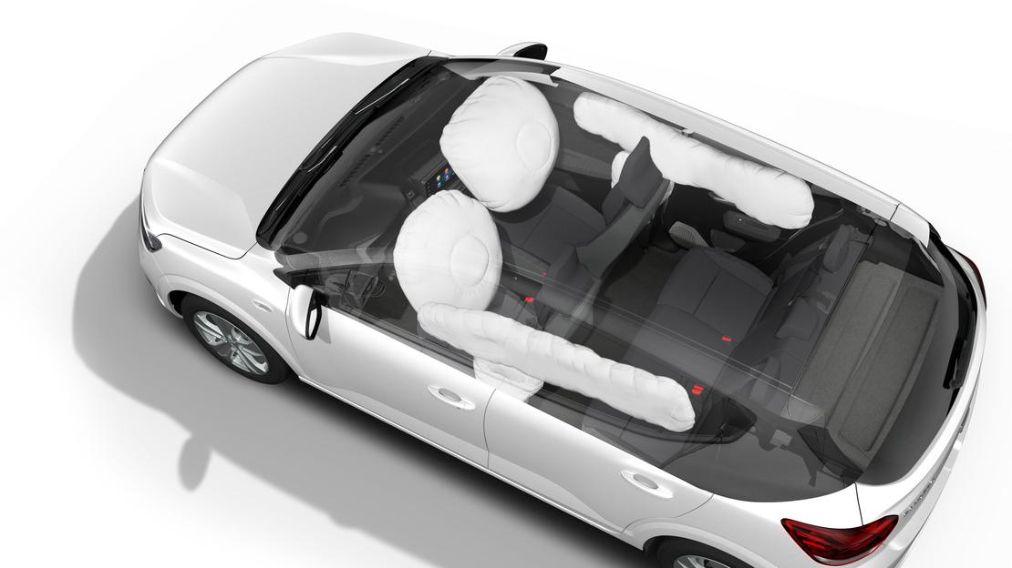 Front airbags bestuurder en passagier (passagier uitschakelbaar)