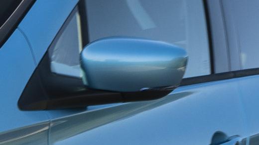 Elektrisch verstelbare en verwarmbare buitenspiegels met geïntegreerde richtingaanwijzer