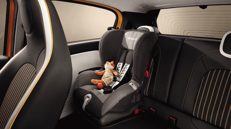Isofix-bevestiging voor kinderstoel op de passagiersplaatsen achteraan