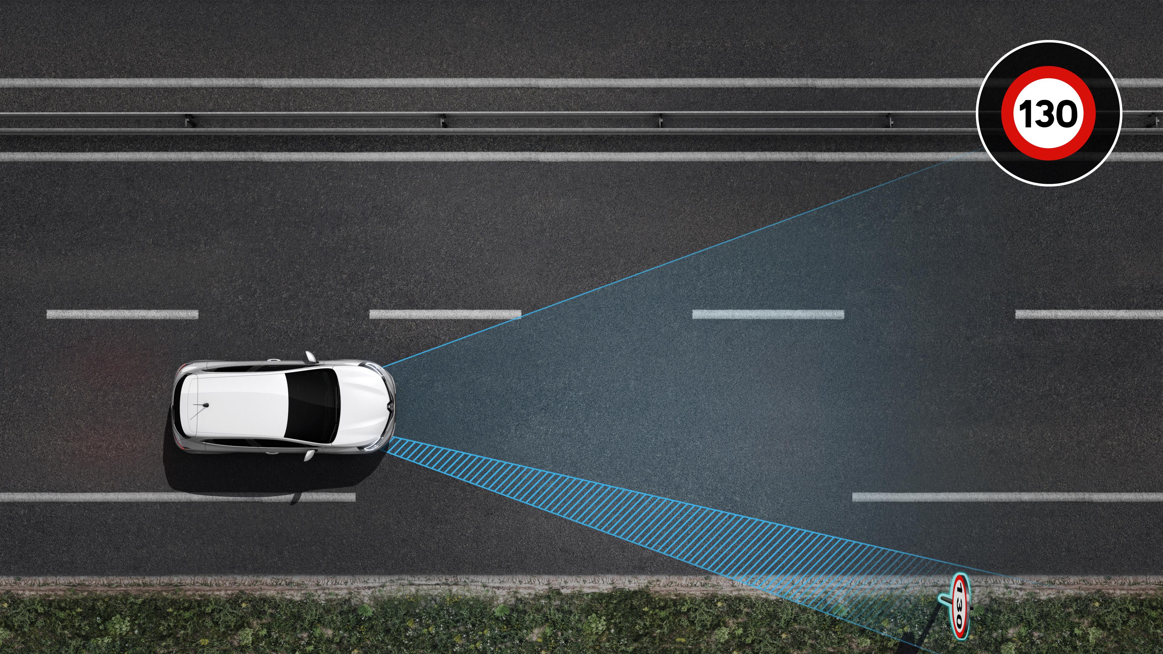 Alerta de excesso de velocidade com reconhecimento dos sinais de trânsito