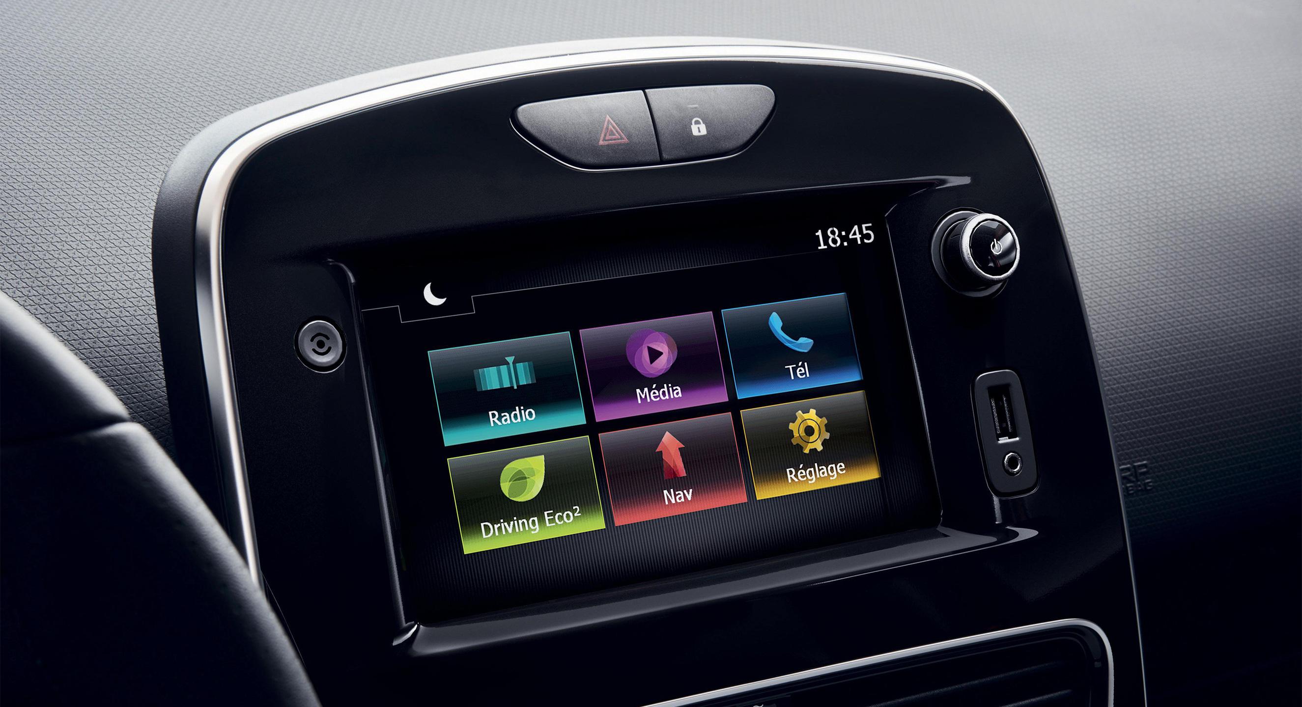 شاشة لمس متعددة الوسائط مقاس 7 بوصات (راديو MP3 و Bluetooth® ومآخذ USB ومقبس)