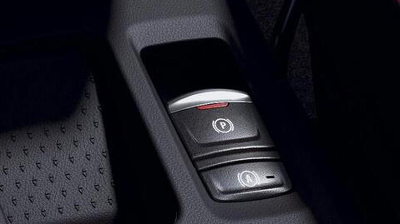 Poloautomatická parkovací brzda bez funkce auto-hold